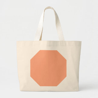 Sweet Apricot Background. Chic Fashion Color Trend Canvas Bags