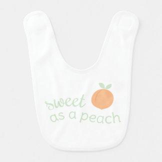 Sweet as a Peach Bib