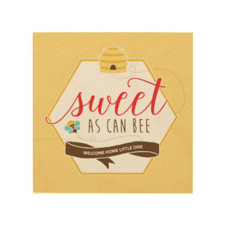 Sweet As Can Bee Wooden Art Wood Canvases