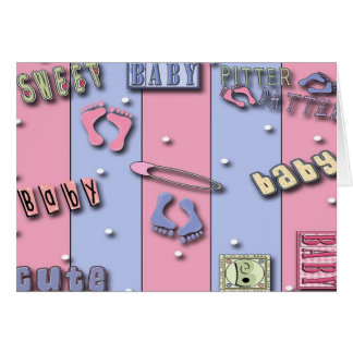 Sweet Baby, Baby Shower  Invitations Greeting Card