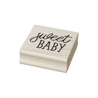 Sweet Baby, Baby Shower Rubber Stamp