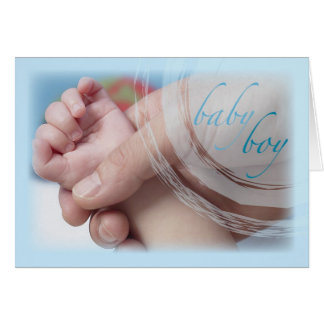 Sweet Baby Boy Congratulations, Hands and Fingers Card