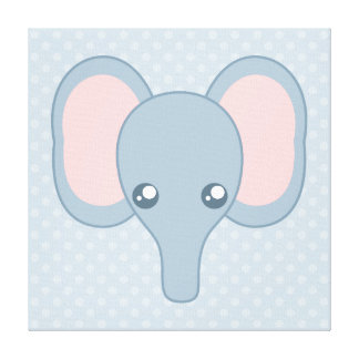 Sweet Baby Elephant Gallery Wrap Canvas