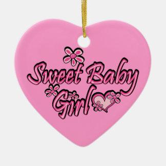 Sweet Baby Girl Christmas Ornament