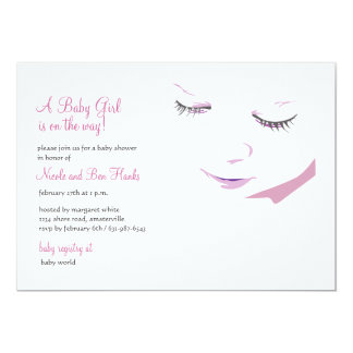 "Sweet Baby Girl Shower Invitation 5"" X 7"" Invitation Card"