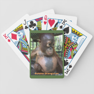Sweet Baby Orangutan Bubble in Borneo Bicycle Playing Cards