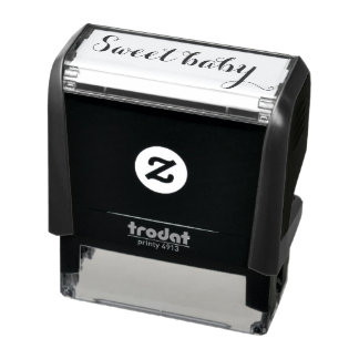 Sweet baby rubber stamp