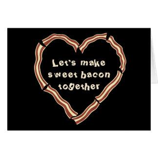 Sweet bacon heart card