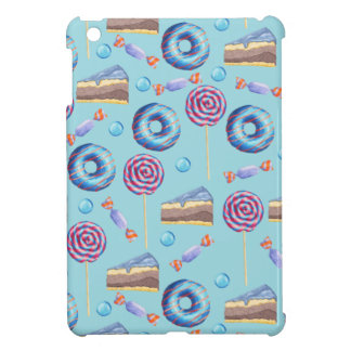 Sweet Blueberry Treats Pattern iPad Mini Covers