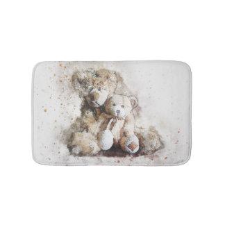 Sweet Brown Teddy Bears Small Bath Mat