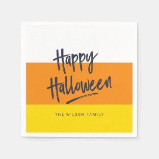 Sweet Candy Corn Happy Halloween Disposable Serviettes