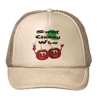 Sweet Cherry Wine Mesh Hat