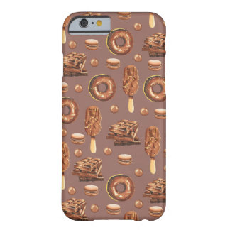 Sweet Chocolate Treats Pattern Barely There iPhone 6 Case