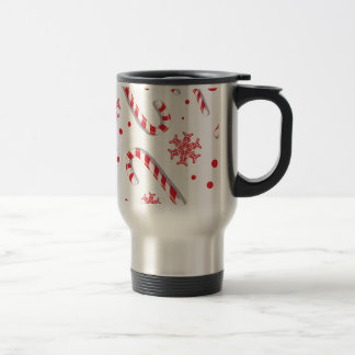 Sweet Christmassy Candy Bar Pattern Travel Mug