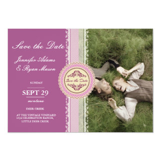 Sweet Couple Laying Grass /pink theme Card