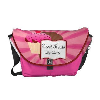 Sweet Cupcake Bakery Messenger Bags