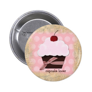 Sweet Cupcake Lover Button