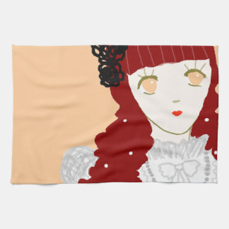 Sweet Dreaming Girl Kitchen Towels