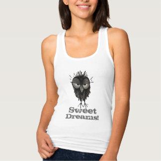 Sweet Dreams! - Funny Grumpy Owl Saying Singlet
