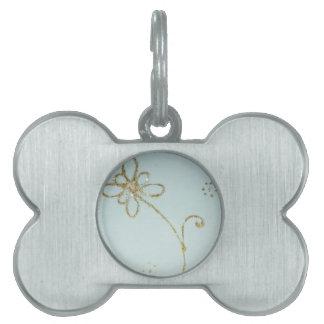 Sweet flower pet tags