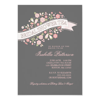 Sweet Flowers Bridal Shower Tea Party Invitation