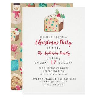 Sweet Fruitcake Christmas Party Card