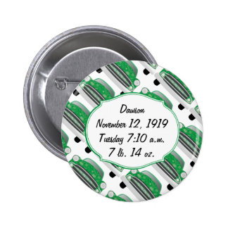 Sweet Green Retro Car Baby Shower Gifts 6 Cm Round Badge