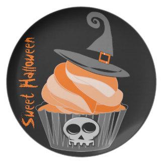 Sweet Halloween treats, Plates