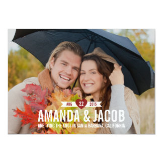 Sweet Heart Save The Date Card