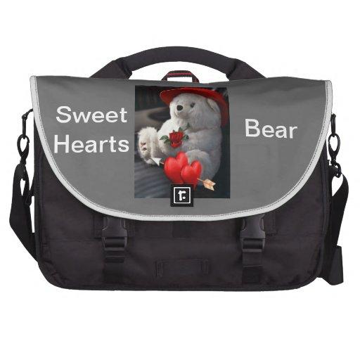 Sweet Hearts Bear Bag Laptop Messenger Bag