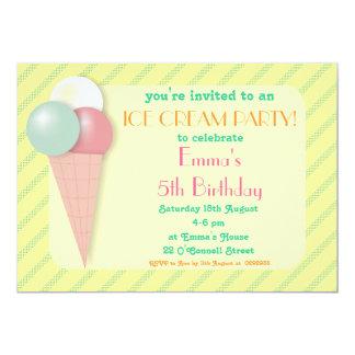Sweet Ice Cream Birthday Party Invitations Announcement