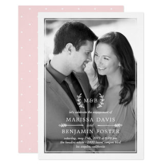 Sweet Initials EDITABLE COLOR Photo Invitation