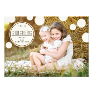 Sweet Ivory Dots Season s Greetings Photo Card