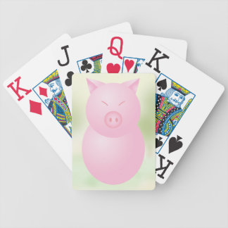 Sweet Kawaii Pig Bicycle Playing Cards