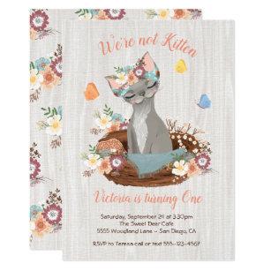 Kitten birthday invitations zazzle sweet kitten birthday party invitations filmwisefo