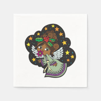 Sweet Kwanzaa Angel Kwanzaa Party Paper Napkins