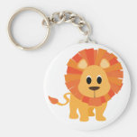 Sweet Lion Basic Round Button Key Ring