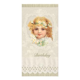 Sweet little girl CC0135 Ellen Clapsaddle Birthday Customised Photo Card