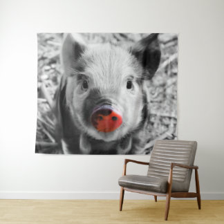 Sweet little Piglet Tapestry