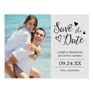 Sweet Love Photo Save the Date Postcard