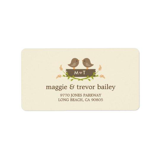 Sweet Love Wedding Address Labels