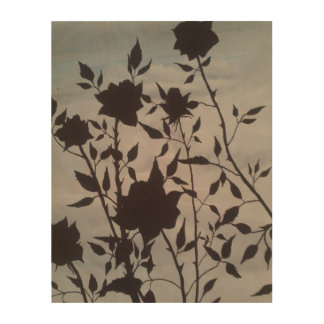 """Sweet Lying Roses"" art print on wood plaque Wood Print"