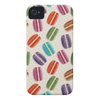 Sweet Macaron Cookies and Polka Dot Pattern Case-Mate iPhone 4 Case