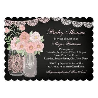 Sweet Mason Jar Chalkboard Baby Shower Invite