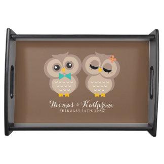 Sweet Owl Couple Food Tray