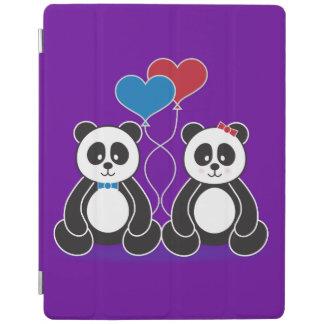 Sweet pandas in love iPad cover