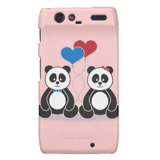 Sweet pandas in love Motorola Droid phone case Droid RAZR Covers