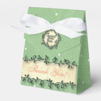 Sweet Pea Tea Birthday –Green Polka-Dot Party Favour Boxes