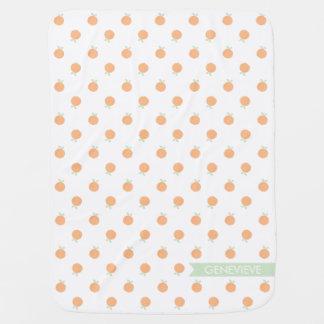 Sweet Peach Blanket   Peach and Mint