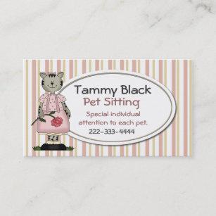 animal sitting business cards zazzle nz